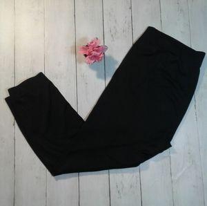 Women's sz L/XL solid black see through leggings